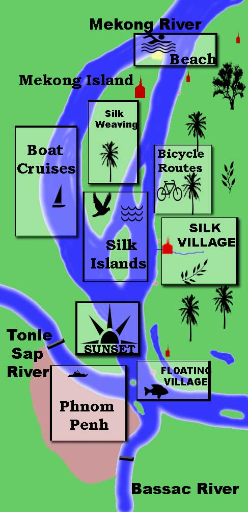 Mekong, Tonle Sap, Bassac River Map></a>